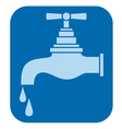 water tap-water faucet vector image vector image
