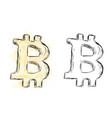 watercolor bitcoin drawing vector image