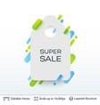 white badge super sale sticker vector image vector image