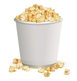 White paper cup full of popcorn vector image