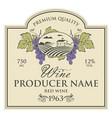 wine bottle label vector image