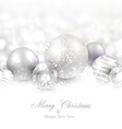 Winter background with silver christmas balls vector image vector image