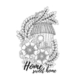 Wood nesting box Pattern for coloring book vector image vector image