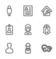 worker icons vector image vector image