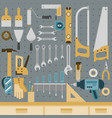 tools on peg board vector image