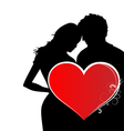 Lovers Valentines Day vector image