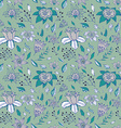 Elegant seamless pattern with abstract flowerson a vector image