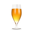 Glass with beer on white background vector image