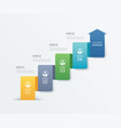 4 data step infographics timeline tab paper index vector image vector image