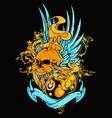 8 ball tattoo vector image vector image