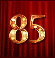 85 years anniversary celebration design vector image