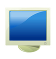 A view of a monitor vector image vector image