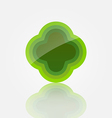 Abstract green icon vector image vector image