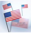 american flags background vector image vector image