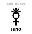 astrology asteroid juno vector image vector image