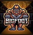 bigfoot esport mascot logo design vector image vector image