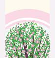 Blooming sakura banner vector image