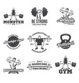 bodybuilding powerlifting kettlebell workout vector image vector image