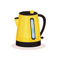 bright yellow electric kettle vessel used vector image vector image
