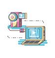 camera device dowloading picture design vector image vector image