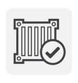 carg container icon vector image