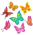 cartoon butterflies vector image