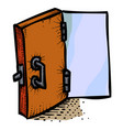 cartoon image of door icon open door symbol vector image
