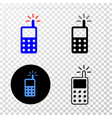 cell phone eps icon with contour version vector image
