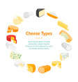 cheese product dairy banner card circle vector image vector image