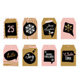 collection of tags for gifts vector image vector image