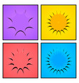 comic bright frames composition vector image vector image