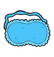 comic cartoon sleeping mask vector image vector image
