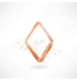 diamonds card grunge icon vector image