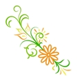 Doodle color abstract flower ornament vector image vector image