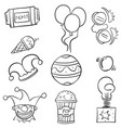 doodle of ornament circus hand draw vector image vector image