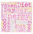 energy bars taken at home text background vector image vector image