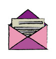 envelope mail message postal letter vector image vector image