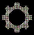 gear halftone mosaic of circles vector image vector image