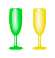 glasses for drinks frosted glass in the vector image