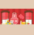 home kitchen accessories household appliances in vector image