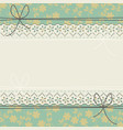 horizontal lace frame with elegant flowers vector image vector image