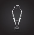 image a owl design vector image vector image