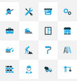 industry colorful icons set collection of vector image vector image
