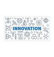 innovation science outline banner vector image