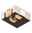Isometric Luxury Interior vector image