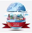 Japan Landmark Global Travel And Journey vector image