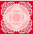 lace napkin vector image