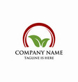 leaf business logo vector image vector image