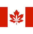 legalization cannabis hemp on canada flag vector image vector image