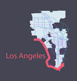 los angeles map flat style design vector image vector image